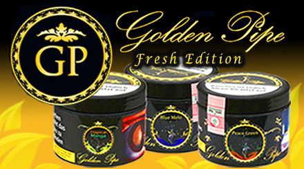 Golden Pipe Fresh Shisha Tabak in der 200g Dose