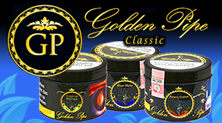Golden Pipe Shisha Tabak in der 200g Dose