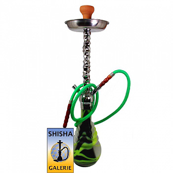 Shisha PNX 670 Frosted Earthquake Chrome Kaya Premium Nargile