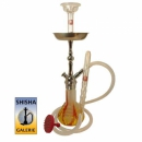 Shisha Set Frosted Snared Yellow